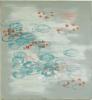 Öl und Siebdruck auf Leinwand,160 x 140 cm